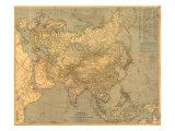 1933 Asia Map Reproduction d'art par National Geographic Maps