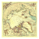 North Pole Regions Map 1907