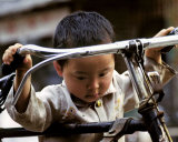 Little Boy with Bike  China