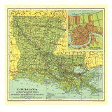 1930 Louisiana Map