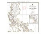 1902 Philippines Military Telegraph Lines North Map