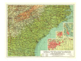 1926 North Carolina  South Carolina  Georgia and Eastern Tennessee Map