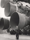 Wernher Von Braun  Standing by Five F-1 Engines  1960s
