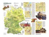 Travelers Map of Germany 1991