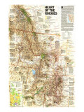 1995 Heart of the Rockies Map Reproduction d'art par National Geographic Maps