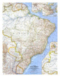 1962 Eastern South America Map