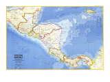 1973 Central America Map