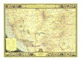 1940 Southwestern United States Map