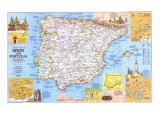 Travelers Map Of Spain And Portugal Map 1984 Side 1