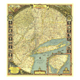 1939 Reaches of New York City Map
