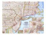 1962 United States Washington to Boston Map