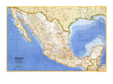 1973 Mexico Map