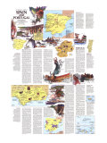 1984 Travelers Map of Spain and Portugal Theme
