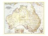 1948 Australia Map Reproduction d'art par National Geographic Maps