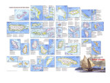 1981 Tourist Islands of the West Indies Map