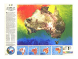 Australia Continental Odyssey Map 1988