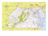 1976 Close-up USA  Mid-Atlantic States Map