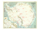 Antarctica Map 1957