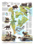 1993 North America in the Age of the Dinosaurs Map