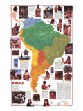 1982 Indians of South America Map