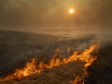 Carefully managed fires sweep across the Flint Hills in spring