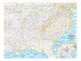 1961 Battlefields of the Civil War Map