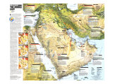 1991 Middle East  States in Turmoil Map