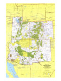 1977 Close-up USA  Southwest Map