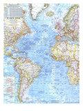 1968 Atlantic Ocean Map