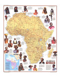 1971 Peoples of Africa Map