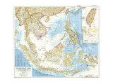 1955 Southeast Asia Map