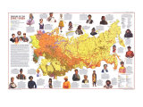 1976 Peoples of the Soviet Union Map