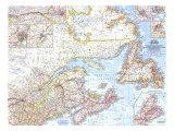 1967 Eastern Canada Map