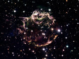 Animation of a supernova explosion to its remnant