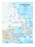 1993 Making of Canada  Atlantic Canada Map