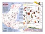 1989 Ancient Maya World Map