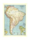1942 South America Map