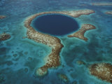 The deep sinkhole of Blue Hole Natural Monument in Lighthouse Reef