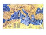 1982 Mediterranean Seafloor Map