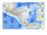 1986 Central America Map