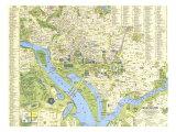 1964 Tourist Washington Map