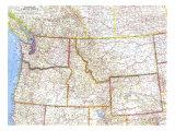 1960 Northwestern United States Map
