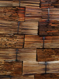 Stacked red cedar shakes