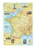 1971 Travelers Map of France