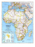 1990 Africa Map