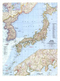 1960 Japan and Korea Map