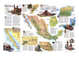 1994 Travelers Map of Mexico
