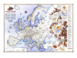 1983 History of Europe  the Major Turning Points Map