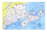 1975 Close-up USA  Maine Map