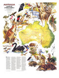 1979 Australia  Land of Living Fossils Map